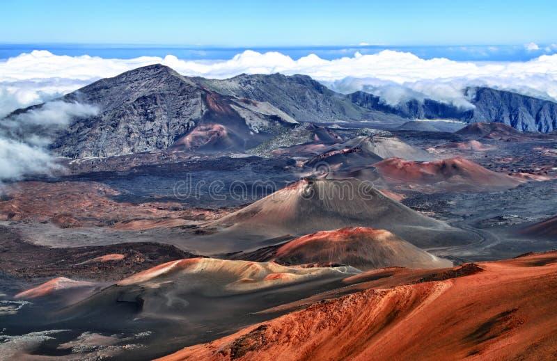 haleakala夏威夷毛伊火山 免版税库存照片