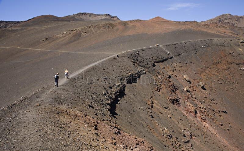 haleakala кратера стоковая фотография