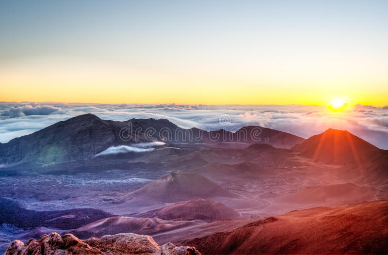 Haleakala - Мауи, Гаваи стоковое изображение rf