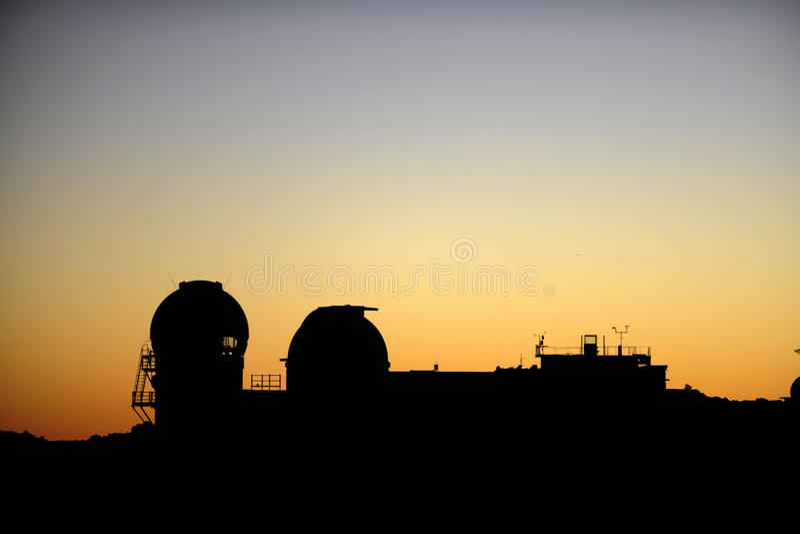 Haleakala astronomisches Beobachtungsgremium. stockbild