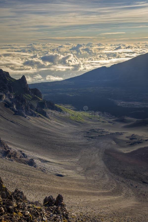 Haleakala Krater lizenzfreies stockbild