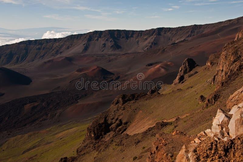 Haleakala Krater lizenzfreie stockfotografie