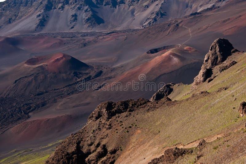 Haleakala Krater stockbild