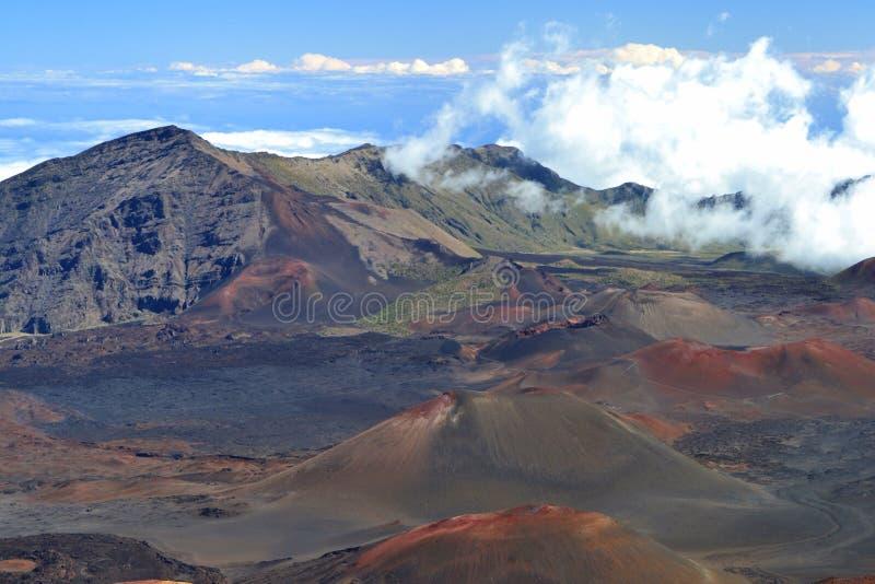 Haleakala krater zdjęcie stock