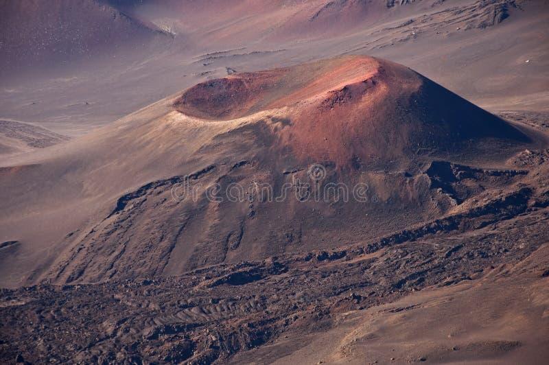 Haleakala Krater-vulkanischer Kegel lizenzfreies stockfoto