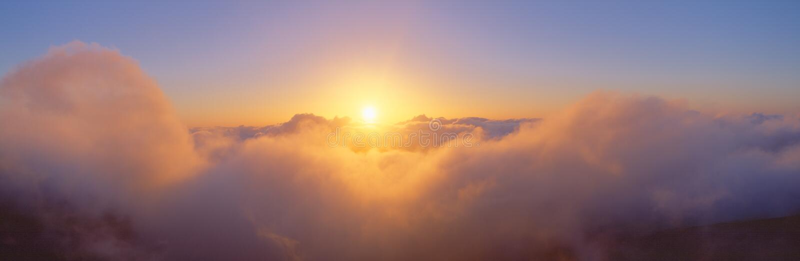 haleakala nad wschód słońca wulkanem fotografia stock