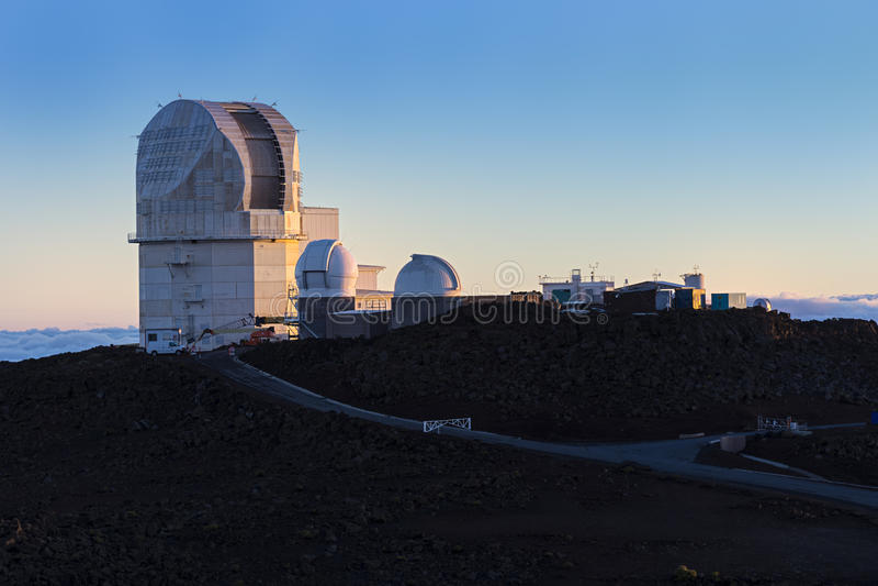 Haleakala-Observatorium Maui Hawaii USA lizenzfreie stockfotos