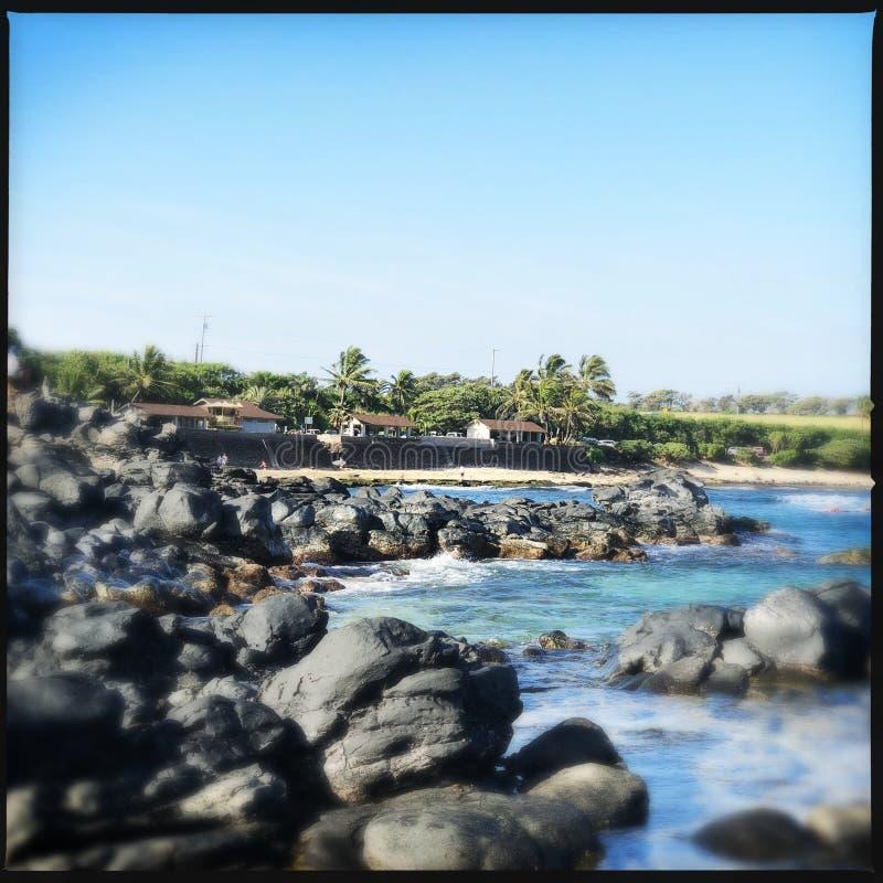 Haleakala plaża fotografia stock