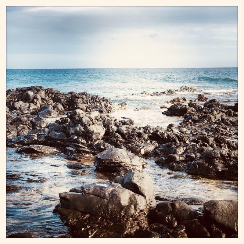 Haleakala plaża w Maui obraz royalty free