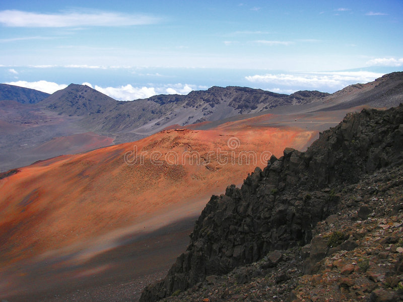 Download Haleakala volcano stock photo. Image of volcanic, attraction - 38390