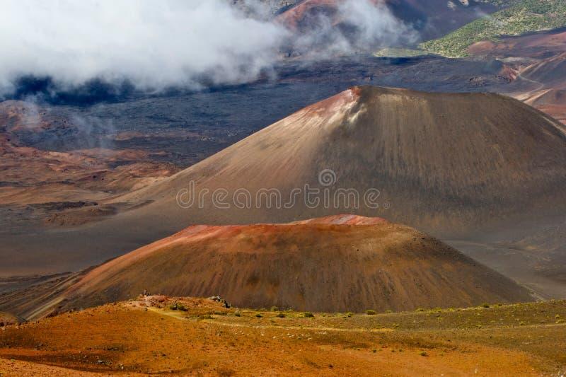 Haleakala Volcano inside a volcano stock images
