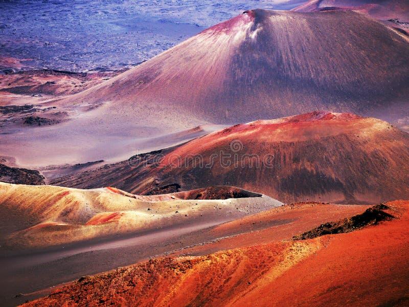 Haleakala Vulkan Maui Hawaii lizenzfreies stockfoto