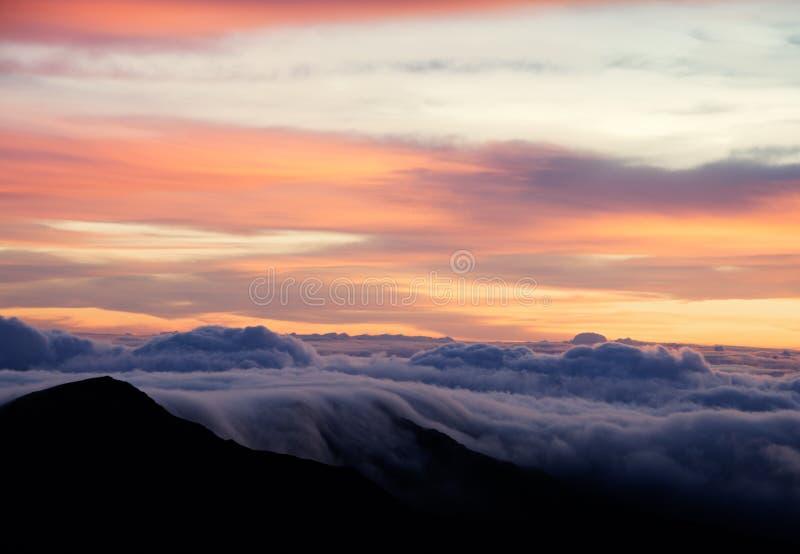 Haleakala wulkanu wschód słońca obrazy royalty free