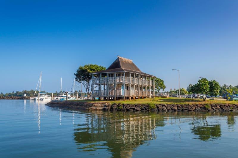 Haleiwa fartyghamn arkivfoto