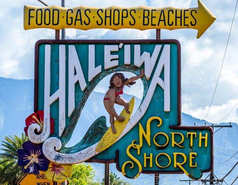 Haleiwa stad arkivfoto