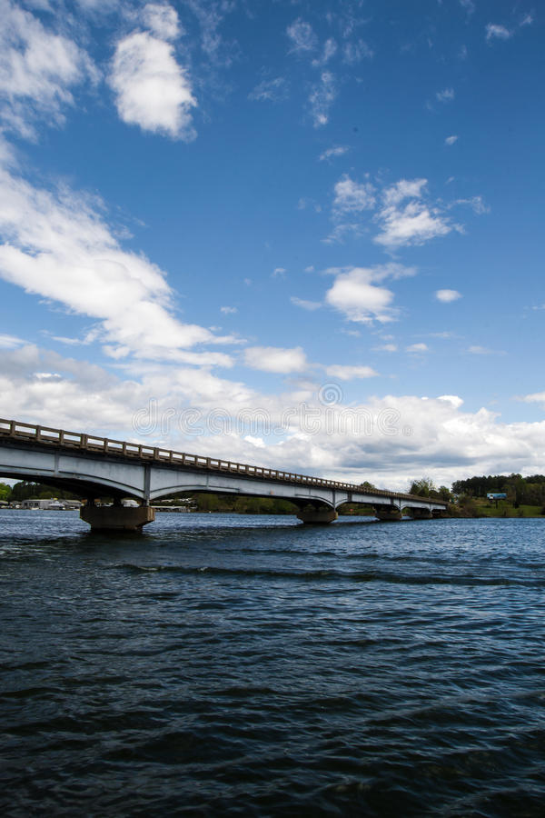 Hales Ford Bridge - Smith Mountain Lake, Virginia, USA. A view of Hales Ford Bridge, the bridge spans Smith Mountain Lake between Franklin and Bedford County at stock photography