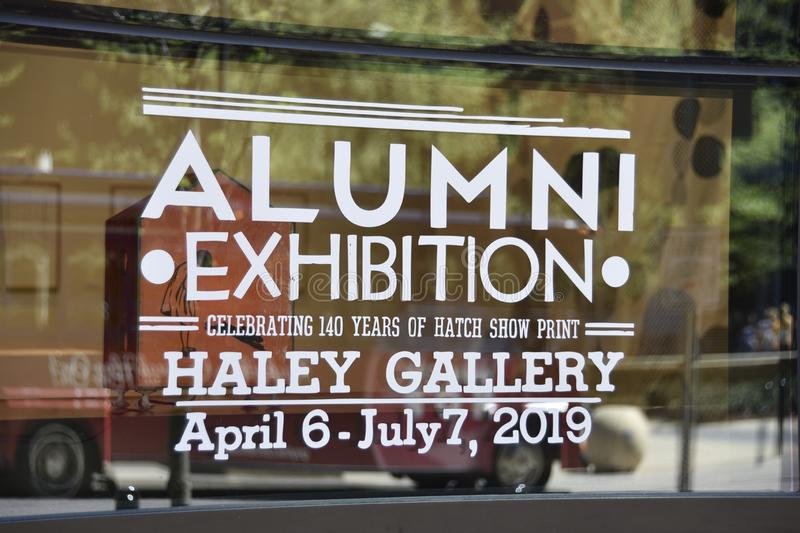 Haley Gallery Alumi Exhibition, Nashville del centro, TN immagini stock