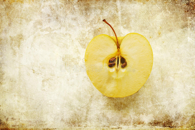 half äpple arkivfoto