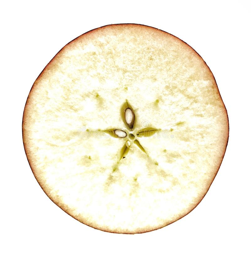 half äpple fotografering för bildbyråer