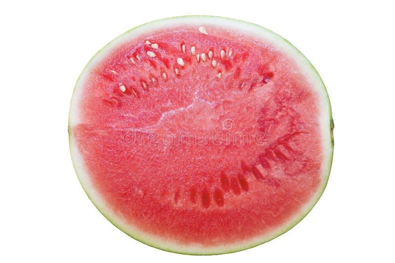 Half övre sikt för Seedless vattenmelon royaltyfri foto