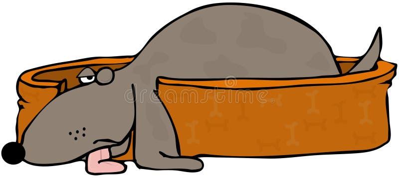 Half Asleep Dog vector illustration