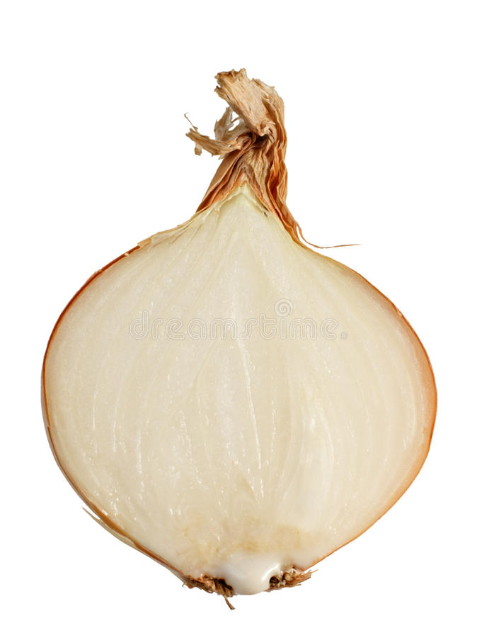 Download Half Of A Bulb With A Juice Drop Stock Photo - Image: 12179362