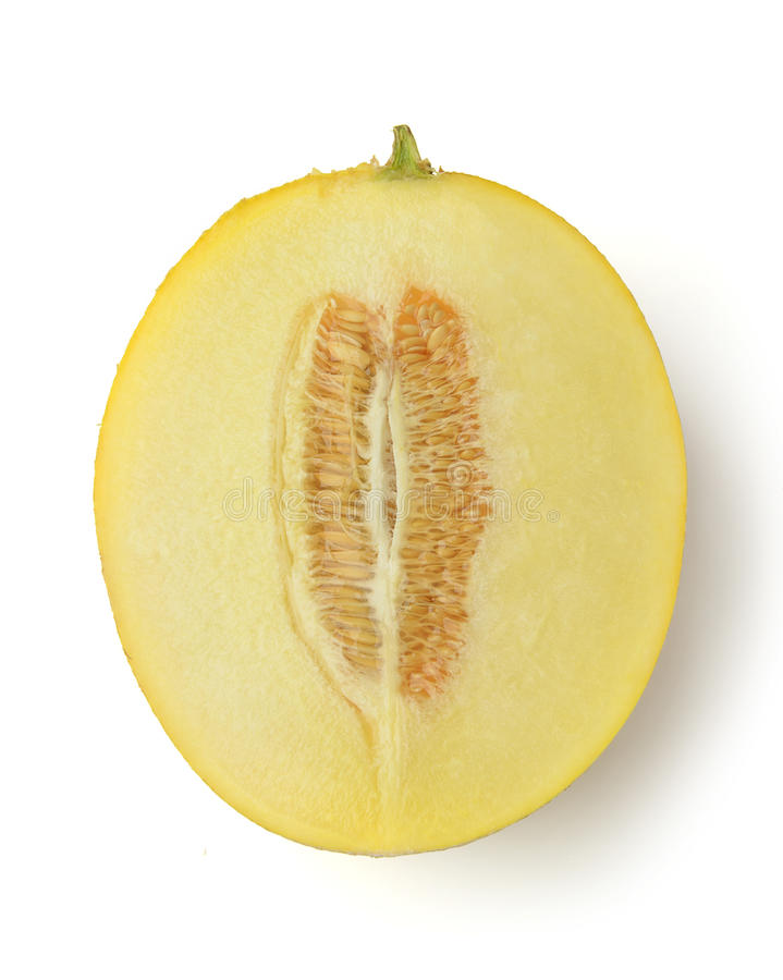 Half of cantaloupe melon stock photography