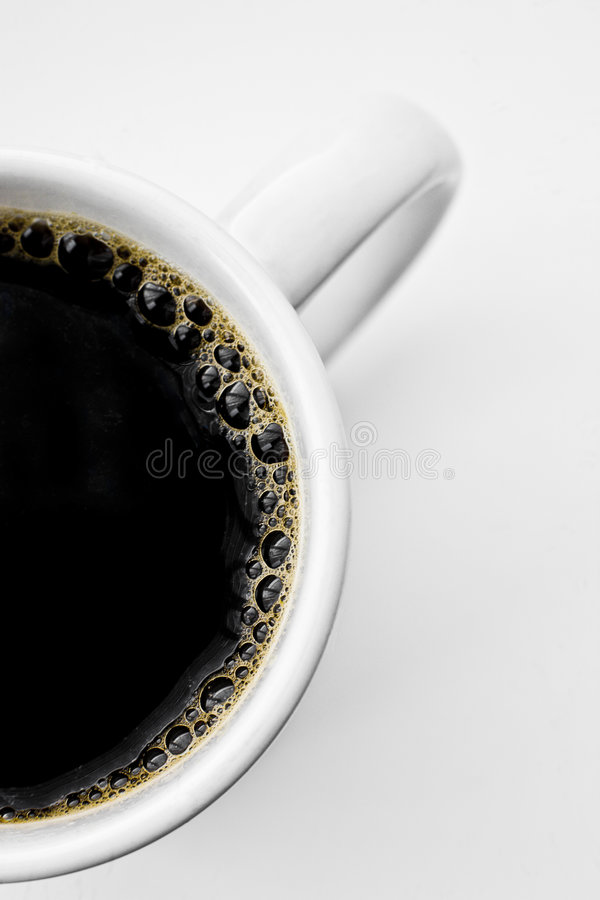 Half a Cup from Above stock image