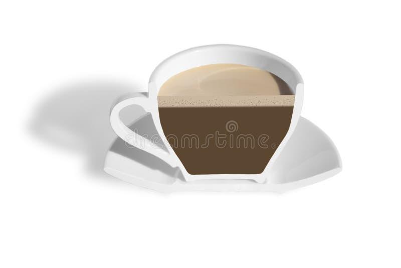 Half cup of coffee.