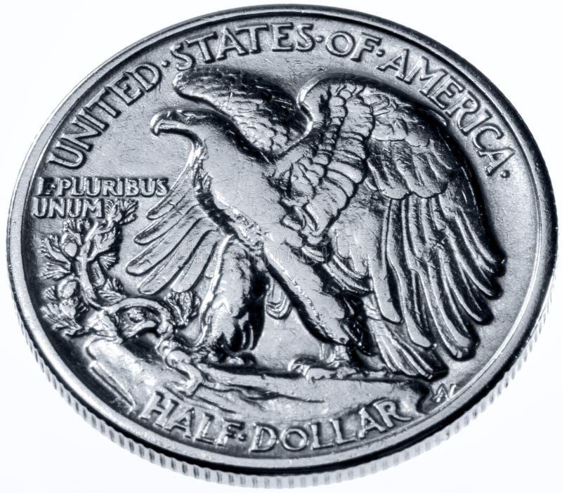 Half dollar. Showing American eagle royalty free stock image