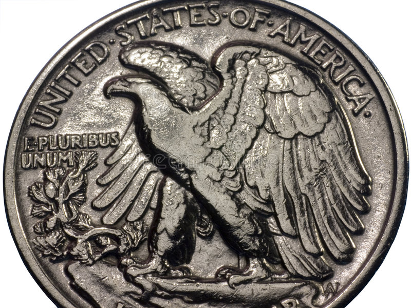 half dollar royaltyfri bild