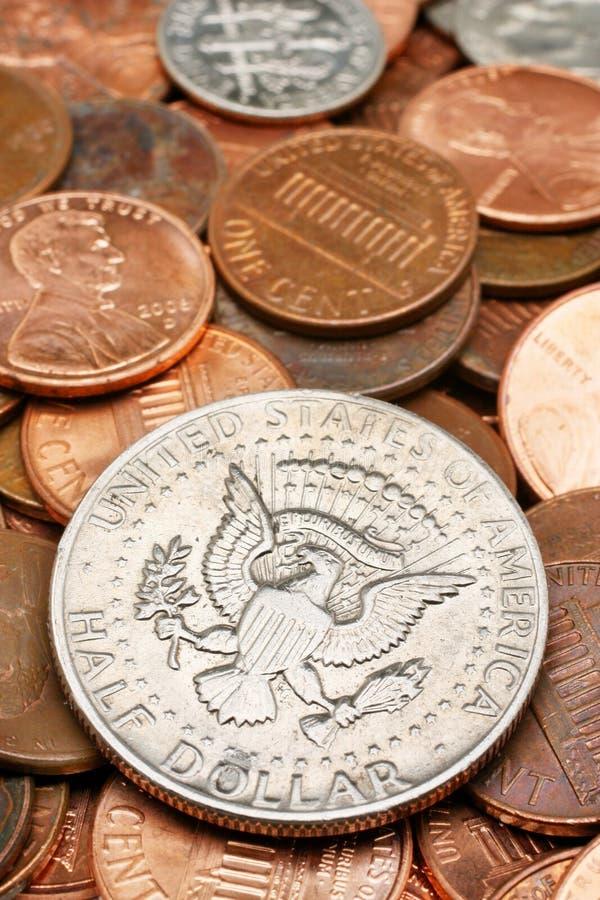 Half Dollar Coin Closeup Royalty Free Stock Photos