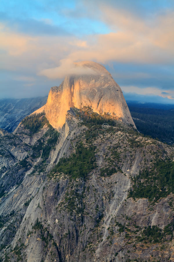Half Dome. View from glacier point, yosemite national park royalty free stock image