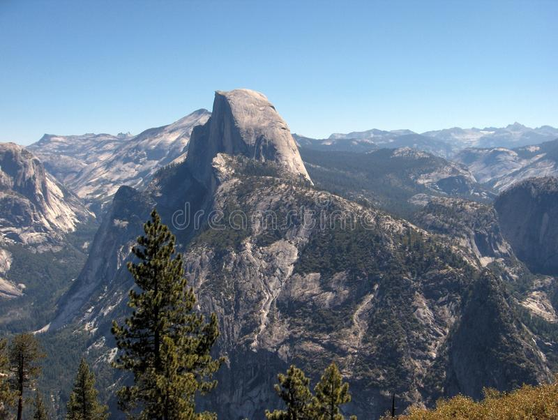 Half Dome close-up From Glacier Point royalty free stock photos