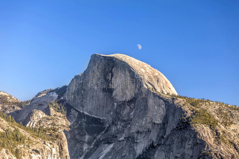 Half Dome Moon stock photography