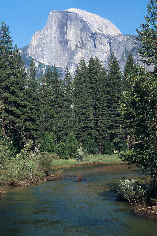 Download Half Dome Over The Merced River Stock Photo - Image of retreat, sports: 152396