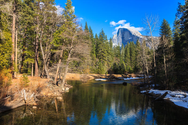 Download Half Dome Reflection stock photo. Image of hiking, coniferous - 28097244