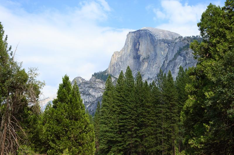 Half Dome Rock. The Landmark of Yosemite National Park,California USA. Geological formations stock images