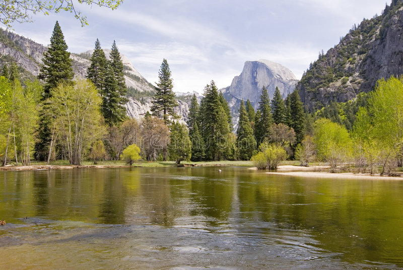 Half dome scene royalty free stock images