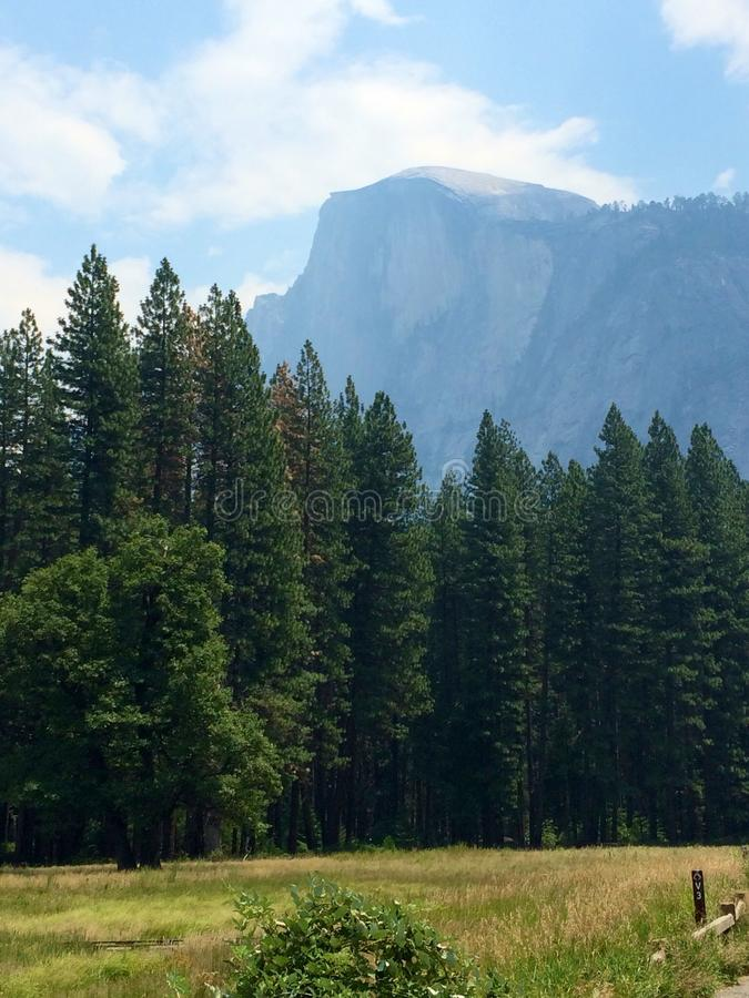 half dome in spring. royalty free stock photography