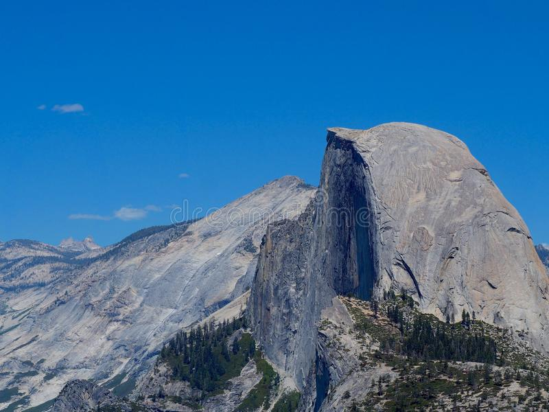 Half Dome on a Sunny Spring Day in Yosemite royalty free stock photo