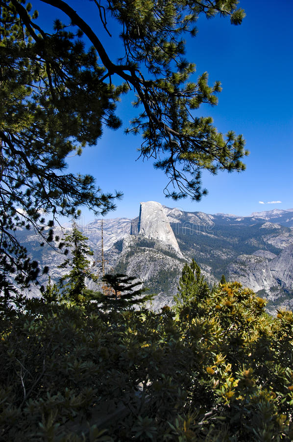 Half Dome in Yosemite National Park royalty free stock photos