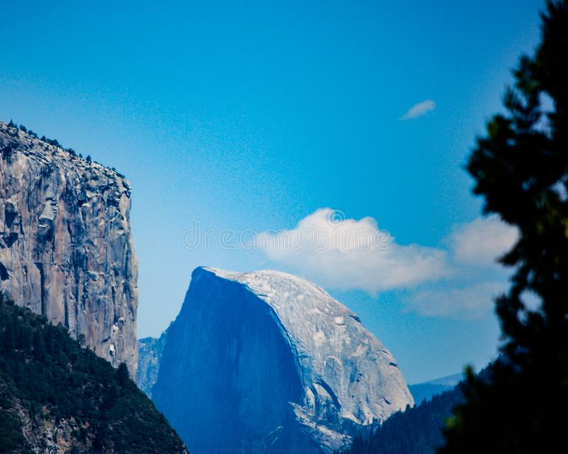 Half Dome in Yosemite National Park stock photography