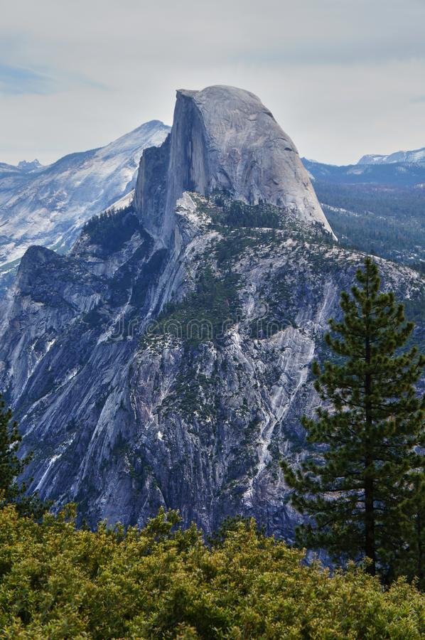 Half dome in Yosemite royalty free stock images
