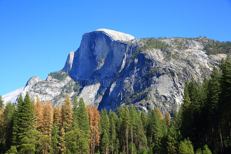 Half Dome in Yosemite Valley, California, USA royalty free stock images