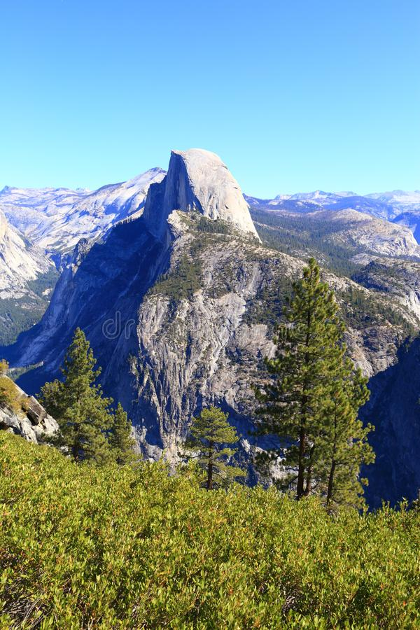 Half Dome in Yosemite Valley, California, USA royalty free stock photography