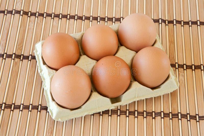 Half dozen eggs stock images