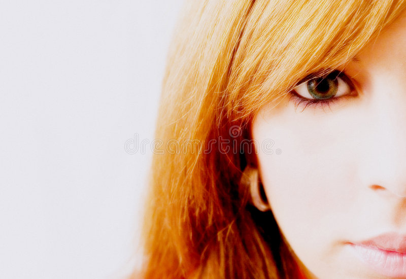 Download Half face stock photo. Image of pink, gold, green, contact - 1563356