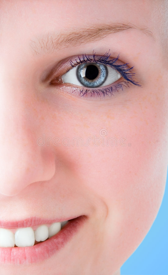 Half face beautiful girl royalty free stock images
