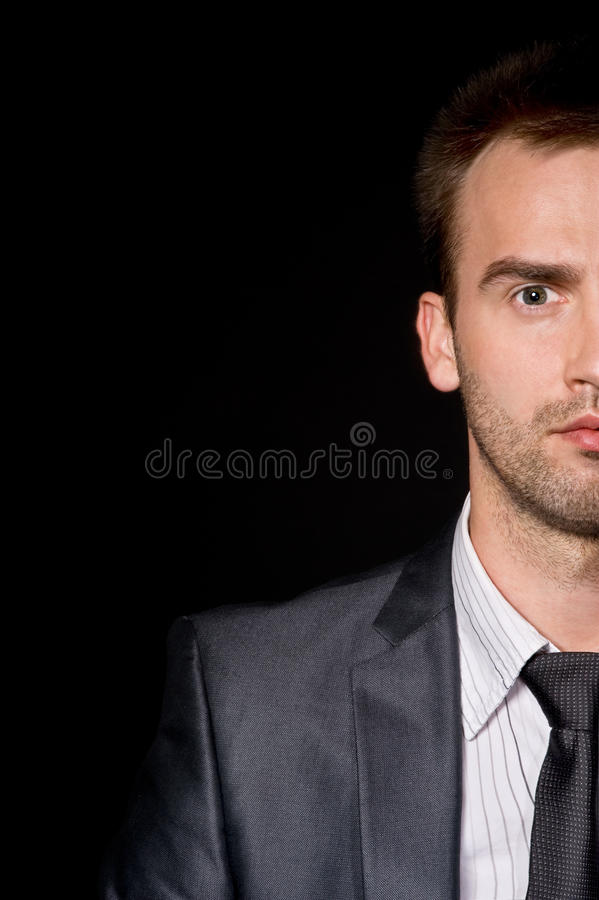 Download Half face businessman stock photo. Image of business - 14535300